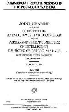 cover of Feb94 remote sensing joint HSC/HPSCI hearing 8K