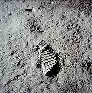 Aldrin's bootprint on lunar surface, open-source per GPL
